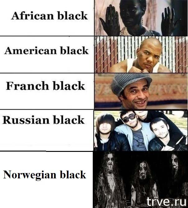 russian black and other black